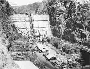 On June 6, 1933, two years after Six Companies won the contract, the construction company started pouring the concrete for the dam's base