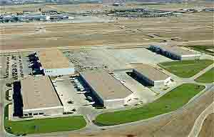 Trammell Crow Company's CargoCentre™ III and AirFreight & LogisticsCentres™ complex at Dallas / Fort Worth  International Airport, built by general contractor Bob Moore Construction company, is the first air cargo facility with parking space specifically designed to accommodate the Airbus A380 aircraft.