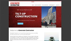 Featured Construction Company Website - Concrete Contractor.com