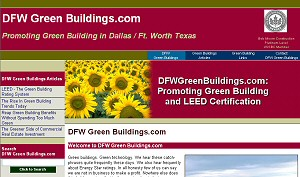 Featured Construction Company Website - DFW Green Buildings.com