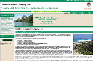 Featured Construction Company Website - LEED Construction Company.com