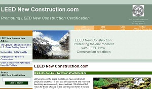 Featured Construction Company Website - LEED New Construction.com
