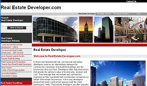Featured Construction Company Website - Real Estate Developer.com