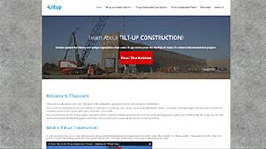 Featured Construction Company Website - Tilt up.com