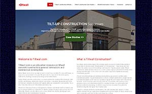 Featured Construction Company Website - Tiltwall.com